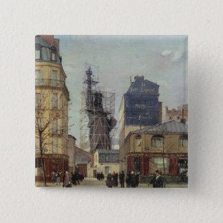 Badge Carré 5 Cm La statue de la liberté, par Bartholdi