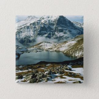 Badge Carré 5 Cm La Suisse, Grindelwald, Alpes de Bernese, vue