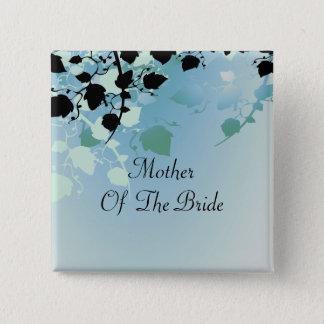 Badge Carré 5 Cm L'arbre en pastel vert mol part du mariage