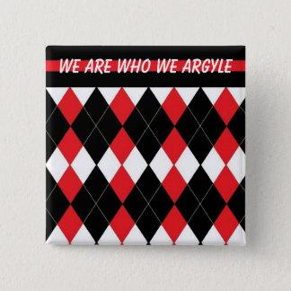 Badge Carré 5 Cm Le bouton à motifs de losanges d'affirmation de