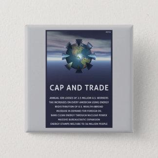 Badge Carré 5 Cm Le casquette et le commerce détruit