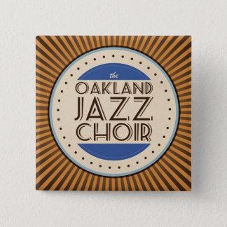 Badge Carré 5 Cm Le choeur de jazz d'Oakland ajustent le bouton