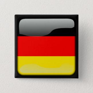 Badge Carré 5 Cm Le Deutschland a poli le drapeau