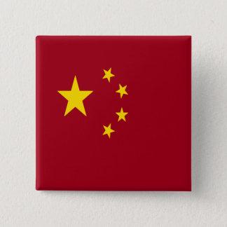 Badge Carré 5 Cm Le drapeau de la république populaire de Chine