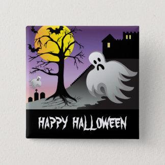 Badge Carré 5 Cm Le fantôme de Halloween manie la batte 10% outre