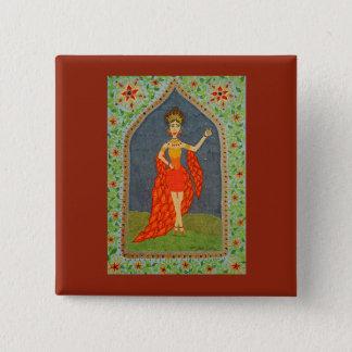 Badge Carré 5 Cm Le Firebird (mode de conte de fées #1)