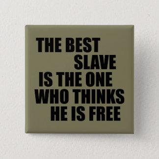 Badge Carré 5 Cm Le meilleur esclave