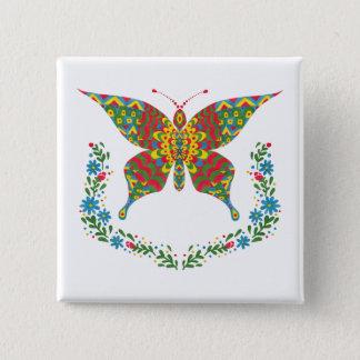 Badge Carré 5 Cm Le papillon de fantaisie
