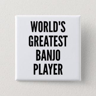 Badge Carré 5 Cm Le plus grand joueur de banjo des mondes