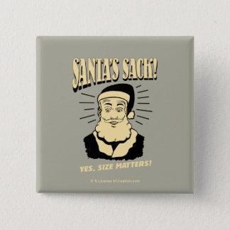 Badge Carré 5 Cm Le sac de Père Noël : Oui, sujets de taille