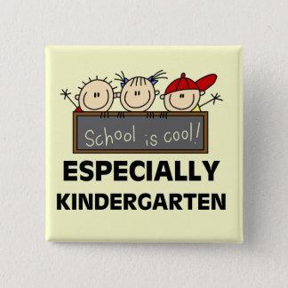 Badge Carré 5 Cm L'école de jardin d'enfants est les T-shirts et