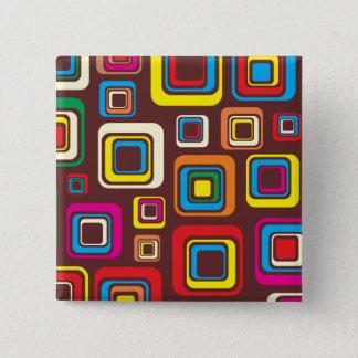Badge Carré 5 Cm Les années 70 carrés super de motif de tuile sur