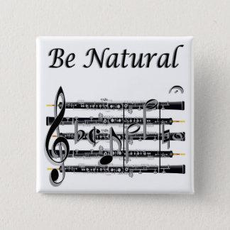 Badge Carré 5 Cm Les hautbois savent à B naturel
