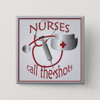 Badge Carré 5 Cm Les infirmières appellent le bouton de carré