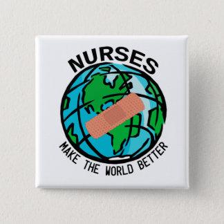 Badge Carré 5 Cm Les infirmières font au monde un meilleur bouton