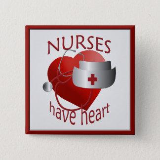 Badge Carré 5 Cm Les infirmières ont le bouton de carré