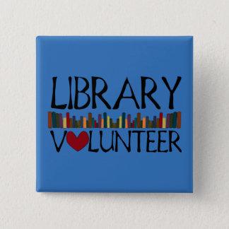 Badge Carré 5 Cm Les livres volontaires de bibliothèque - changez