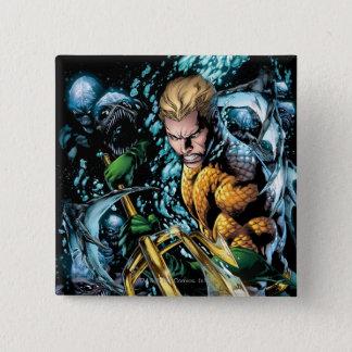 Badge Carré 5 Cm Les nouveaux 52 - Aquaman #1