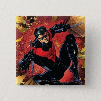 Badge Carré 5 Cm Les nouveaux 52 - Nightwing #1
