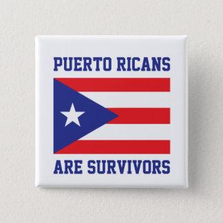 Badge Carré 5 Cm Les Portoricains sont des survivants