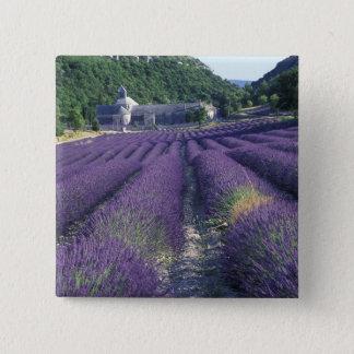 Badge Carré 5 Cm L'Europe, France, Provence. Champs de Lavander