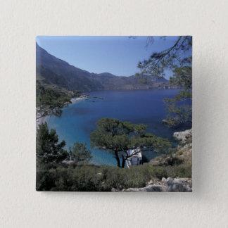 Badge Carré 5 Cm L'Europe, Grèce, Karpathos, Dodecanese ; Apella