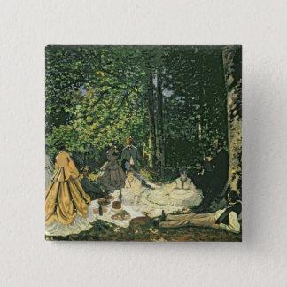 Badge Carré 5 Cm l'Herbe de sur de Claude Monet | Le Dejeuner,