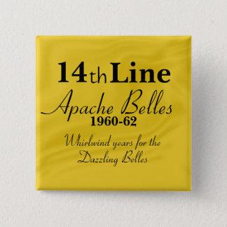 Badge Carré 5 Cm Ligne de belles d'Apache 14ème