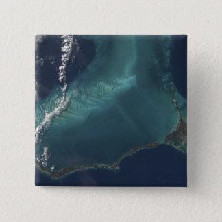 Badge Carré 5 Cm L'île étroite prolongée d'Eleuthra des Bahamas