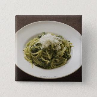 Badge Carré 5 Cm Linguine avec le pesto et le parmesan