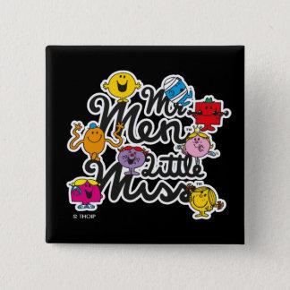 Badge Carré 5 Cm Logo de groupe de M. Men Little Mlle  