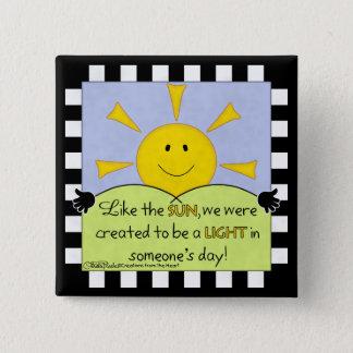 Badge Carré 5 Cm Lumière dans quelqu'un Jour-Soleil