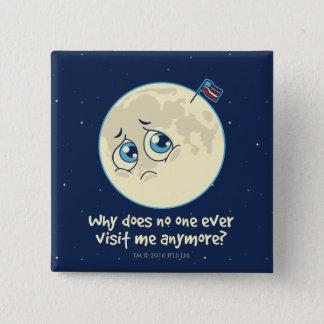 Badge Carré 5 Cm Lune triste