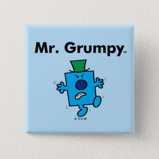 Badge Carré 5 Cm M. Grumpy de M. Men   est un bougon