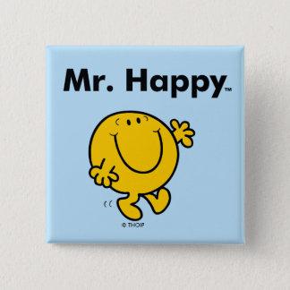 Badge Carré 5 Cm M. Happy Is Always Happy de M. Men  
