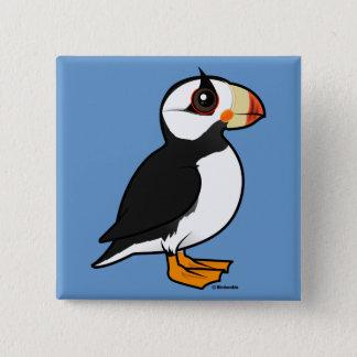 Badge Carré 5 Cm Macareux à cornes de Birdorable