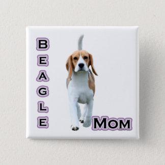 Badge Carré 5 Cm Maman 4 de beagle - bouton