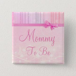 Badge Carré 5 Cm Maman à être bouton de baby shower d'étoiles de