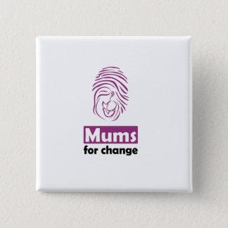 Badge Carré 5 Cm Mamans pour l'insigne de carré de changement