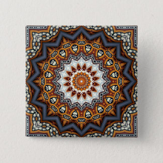 Badge Carré 5 Cm Mandala de kaléidoscope au Portugal : Motif 224,11