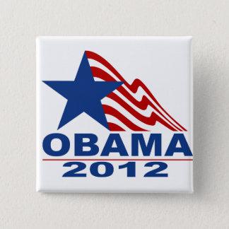 Badge Carré 5 Cm Marchandises d'Obama 2012