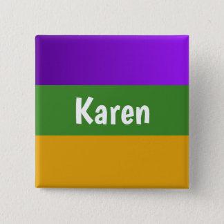 Badge Carré 5 Cm Mardi gras personnalisé de bouton