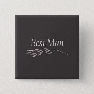 """Badge Carré 5 Cm Mariage """"floral """" du """"meilleur homme"""""""