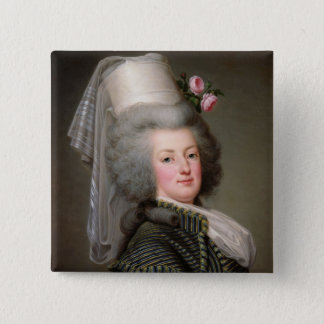 Badge Carré 5 Cm Marie-Antoinette de la Habsbourg-Lorraine