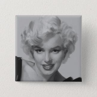 Badge Carré 5 Cm Marilyn le regard 2