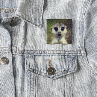 Badge Carré 5 Cm Meerkat