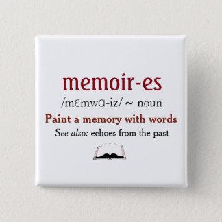 Badge Carré 5 Cm Mémoires, souvenirs - échos du passé