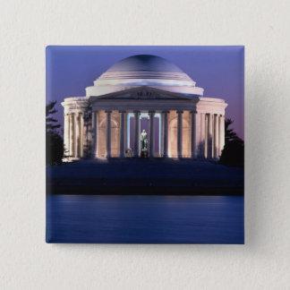 Badge Carré 5 Cm Mémorial de Thomas Jefferson au crépuscule