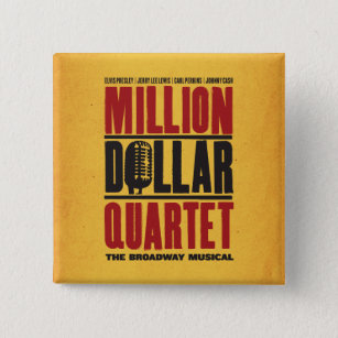 Badge Carré 5 Cm Million de logo de quartet du dollar