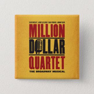 Badge Carré 5 Cm Million de logo de quartet du dollar